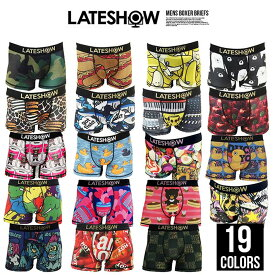 LATESHOW レイトショー ボクサーパンツ 下着 メンズ パンツ ブランド おしゃれ かわいい おもしろい おもしろ 人気 派手 カラフル 総柄 前開き GAL MB