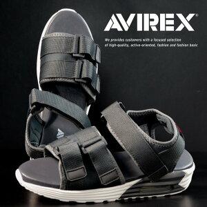 【サイズが合えばお買い得】AVIREX スポーツサンダル メンズ AV4541 HUDSON グレー/ホワイト 靴 シューズ アビレックス アヴィレックス スポサン 軽量 エアソール マジックテープ レジャー 旅行 AV