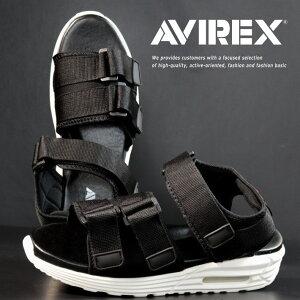 【サイズが合えばお買い得】AVIREX スポーツサンダル メンズ AV4541 HUDSON 靴 シューズ アビレックス アヴィレックス スポサン 軽量 エアソール マジックテープ レジャー 旅行 AV4541 HUDSON ハドソ
