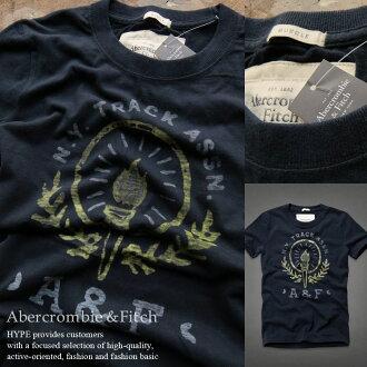 abakuro T恤正规的物品短袖人顶端印刷T恤糖果舵男性时装顶端123-238-1417-023深蓝Abercrombie&Fitch abakurombi&菲琦■02140414