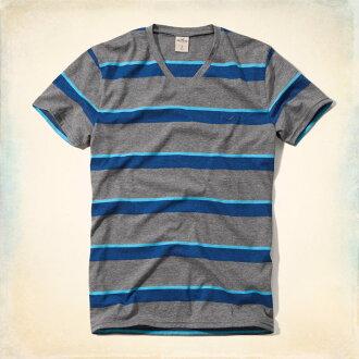 horisuta T恤男子的正规的物品HOLLISTER短袖V字领T恤顶端男性时装324-369-0426-014灰色×蓝色■02140729