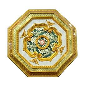 シーリングメダリオン アンテイーク クラシック 送料無料ゴールド×ホワイト×グリーン シャンデリアを豪華に引き立てるおしゃれな天井装飾