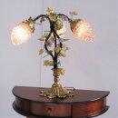 テーブルランプブドウ3灯ランプフランス製アールヌーヴォーガラス卓上ランプアンティーク調おしゃれクラッシックヨーロピアン照明葡萄ぶどう輸入雑貨送料無料
