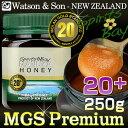 マヌカハニー MGS20+ MGO800+ 実測20.9/MGO:834 P.モラン博士ゴールド認証 ワトソン&サン社マヌカ蜂蜜 250g 正規品 as