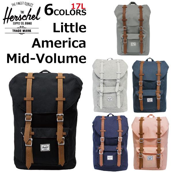 HERSCHEL SUPPLY ハーシェルサプライ Little America Backpack Mid-Volume リトルアメリカバックパックミッドボリュームリュックサック デイパック バッグ カバン 鞄 メンズ レディース 17L A4 10020プレゼント ギフト 通勤 通学 送料無料