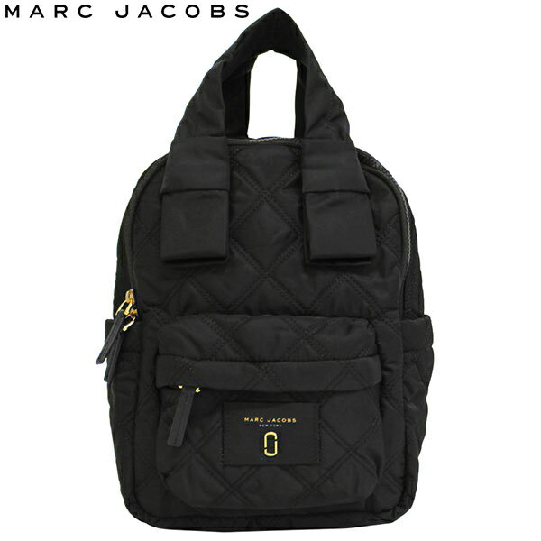 MARC JACOBS NEW YORK マークジェイコブス Nylon Knot Backpack ナイロン ノット バックパックDouble J リュックサック バッグ レディース A4 M0011201 001 ブラックプレゼント ギフト 通勤 通学 送料無料
