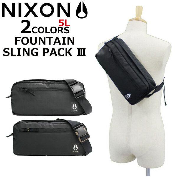 NIXON ニクソン FOUNTAIN SLING PACK III BAG ファウンテイン スリングパック 3 バッグボディバッグ スリングバッグ ウエスト ショルダー メンズ レディース 5L C2816プレゼント ギフト 通勤 通学 送料無料