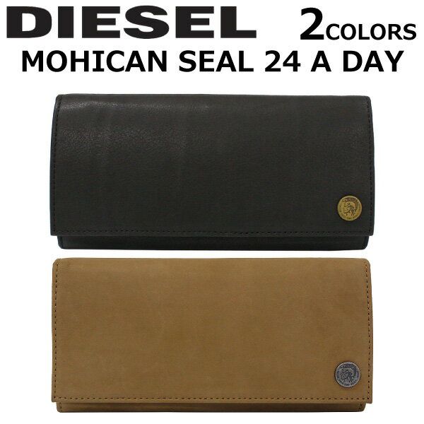 DIESEL/ディーゼル MOHICAN SEAL 24 A DAY 長財布X04374 PR013 T2282/T8013 二つ折り/長札メンズ/レディース プレゼント/ギフト/通勤/通学/送料無料