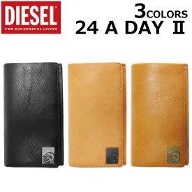DIESEL ディーゼル 24 A DAY II デイ 2モヒカン 長財布 二つ折り 牛革 メンズ レディース X05343-PR480 T2214/T2232/T8013プレゼント ギフト 通勤 通学 送料無料