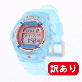 【訳あり】【アウトレット】【BOXなし】CASIO カシオ / Baby-G ベビージー BG-169R-2C レディース デジタル クリア ライトブルー 腕時計