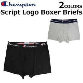Champion チャンピオン Script Logo Boxer Briefs スクリプト ロゴ ボクサー ブリーフ 下着ボクサーパンツ アンダーウェア メンズ CM6P206プレゼント ギフト 通勤 通学
