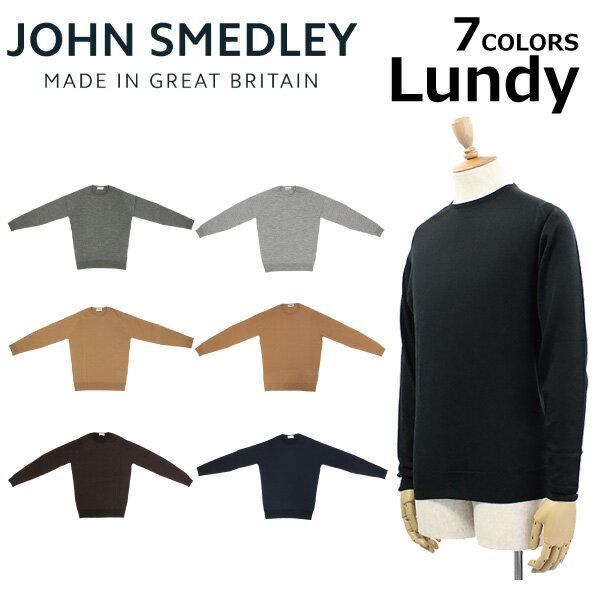JOHN SMEDLEY ジョン・スメドレー ジョンスメドレー LUNDY ランディ30ゲージ クルーネック スタンダードフィット ニット メンズプレゼント ギフト 通勤 通学 送料無料
