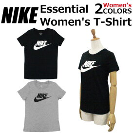 NIKE ナイキ Essential Women's T-Shirt エッセンシャル ウィメンズ Tシャツカットソー レディース ロゴ プリント BV6170 ブラック グレープレゼント ギフト 通勤 通学