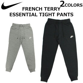 NIKE ナイキ French Terry Essential Tight Pants フレンチテリー エッセンシャル タイト パンツレディース トレーニング スポーツウェア スウェットパンツ ロゴ ブラック グレー CJ7713プレゼント ギフト 通勤 通学 送料無料