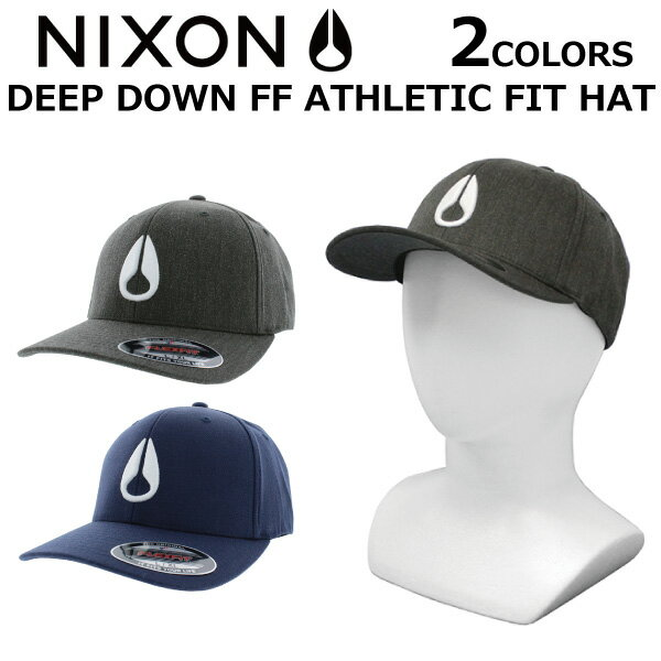 NIXON ニクソン DEEP DOWN FF ATHLETIC FIT HAT ディープ ダウン アスリート フィット ハットキャップ 帽子 メンズ レディース C1075プレゼント ギフト 通勤 通学