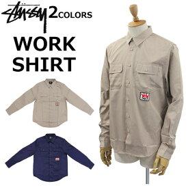 STUSSY ステューシー WORK SHIRT ワークシャツ長袖 メンズ ロゴ ワンポイント 111948プレゼント ギフト 通勤 通学 送料無料