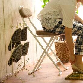 折りたたみ イス フォールディングスツール ファブリックフォールディングチェアー 椅子 イス スツール【来客時や玄関先の腰掛♪】パイプイス 業務用にも最適/便利な折りたたみ式/オットマン/椅子/いす 02P03Dec16