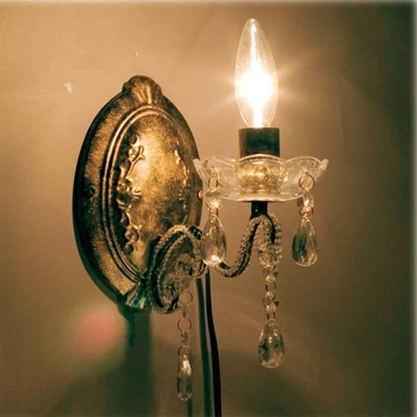 ブラケット シャンデリア アンティーク ブラケット照明 お姫様系 シャンデリアランプ 照明 1灯 アンティーク ブラケット シャンデリア 02P03Dec16
