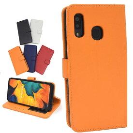 Galaxy A30 SCV43 手帳 Samsung Galaxy scv43 シンプル 保護 カバー ギャラクシーケース 手帳型 カバー おしゃれ a30 耐衝撃 カラーレザー手帳型ケース