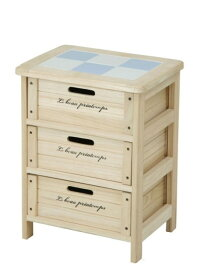 【北欧スタイル♪】 木製3段ボックス HF05-002(N) ナチュラル 【タイル張り木箱*】 野菜ストッカー カントリーキッチン収納 ワイン箱のようなかわいらしさ 02P03Dec16