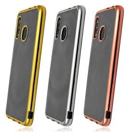 Galaxy A30 SCV43 メタリックバンパー ギャラクシー A30 SCV43 ソフトクリアケース Galaxy シンプル クリアケース カバー