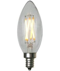 調光非対応 LED電球 E12 シャンデリア球 フィラメント 電球色 440lm おしゃれ 店舗デザイン インテリア照明 【取寄】