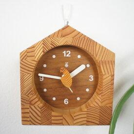 KICORI ミニクロック K209 (W) 木の時計 キコリ 無垢 国産 送料無料 置き時計 壁掛け