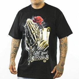 Dyse One Blessing Tee black【ダイスワン】プリントTシャツ【メキシカン/チカーノ/BKスタイル】Tシャツロス S/STシャツ バックプリントTシャツ ヒップホップ ストリート メンズTシャツ 半袖Tシャツ大きいサイズメンズ Tシャツ L LL 3L 4L