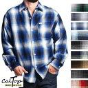 CalTop Plaid チェック柄 L/Sシャツ オールドスクール [カルトップ] チェックシャツ 【全9色】 キャルトップ シャ…