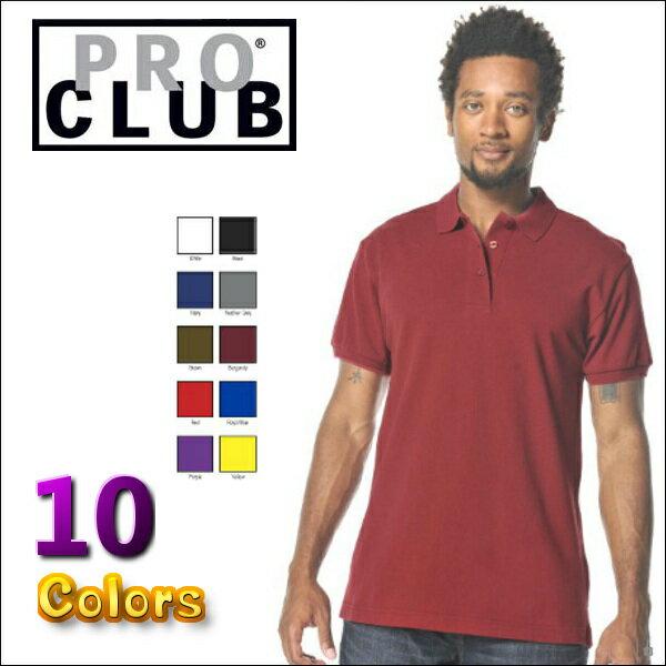 PRO CLUB (プロクラブ) 【全10色】 [あす楽]PROCLUB PIQUE POLO SHIRT(ポロシャツ)大きいサイズ 大きいサイズメンズ メンズ無地ポロシャツ 無地ポロ プロクラブポロ 2L 3L 4L 5L