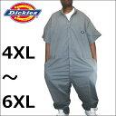 【4XL〜6XL】DICKIES【3399】 [33999]ディッキーズ カバーオール Dickies半袖つなぎ 半袖 ツナギ 大きいサイズつなぎ…