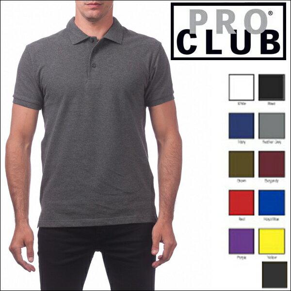 PRO CLUB (プロクラブ) 【全11色】 [あす楽]PROCLUB PIQUE POLO SHIRT(ポロシャツ)大きいサイズメンズ メンズ無地ポロシャツ 無地ポロ プロクラブポロ M L LL 2L 3L 4L 5L