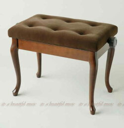 【its】マホガニー&ウォルナット色・ネコ脚と気品ある布張り座面のピアノ椅子・イトマサANS-W(2色より)