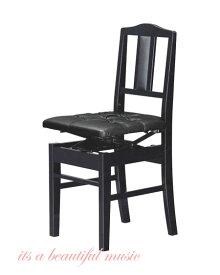 【its】入荷しました!数量僅少!!日本製背もたれピアノ椅子(トムソン椅子)クッション性のあるデラックス厚手座面の吉澤 NEW 5K-DX(黒色)