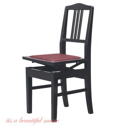 【its】ヤマハ純正背もたれピアノ椅子YAMAHANo.5(No5)黒色
