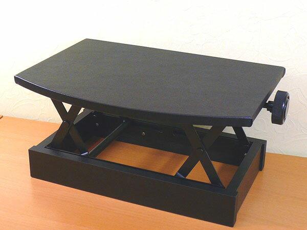 【its】日本製!ラウンドデザインのピアノ補助台・吉澤AX-50(AX50)黒色