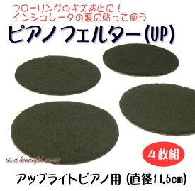 【its】床のキズ防止に!インシュレーターの裏に貼って使うピアノフェルター(UP用)