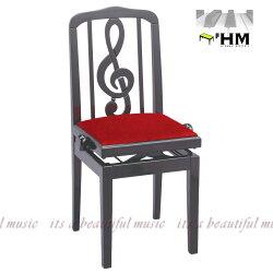 """【its】スペイン/HIDRAU社""""お洒落なト音記号の""""背もたれ式高級輸入ピアノ椅子SG-40(黒)"""