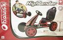 【送料無料】HIGH LANDER ゴーカート ペダル式 4輪 12インチタイヤ ハンドブレーキ付き ハイランダー