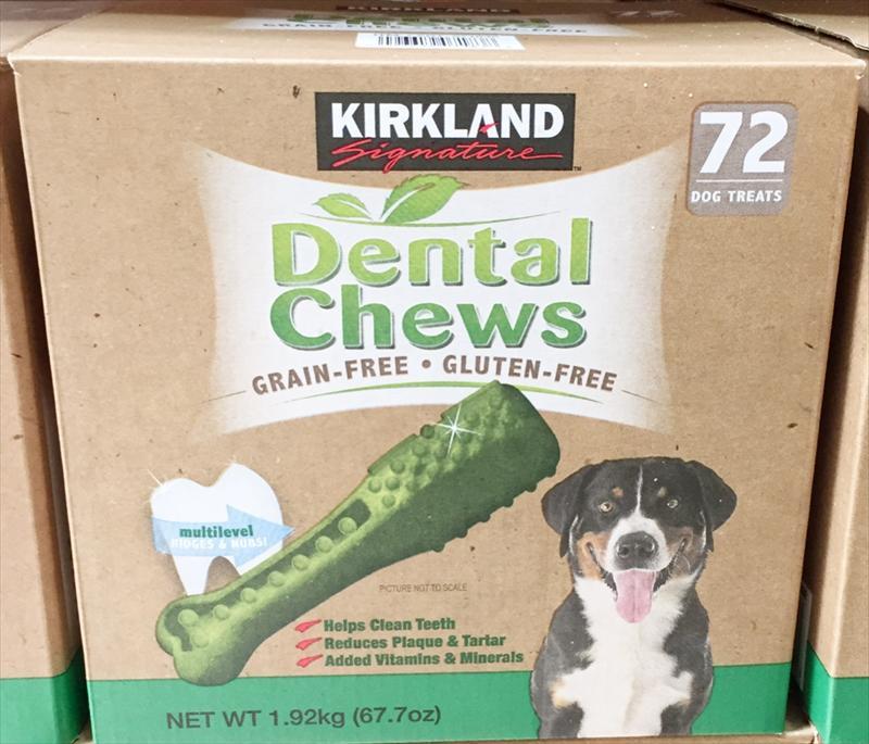 カークランド 犬用おやつ デンタルチュウ 72個入 犬 いぬ おやつ オヤツ 歯磨き ガム はみがき 愛犬 おかし お菓子【賞味期限:外箱記載の製造年月日より2年】