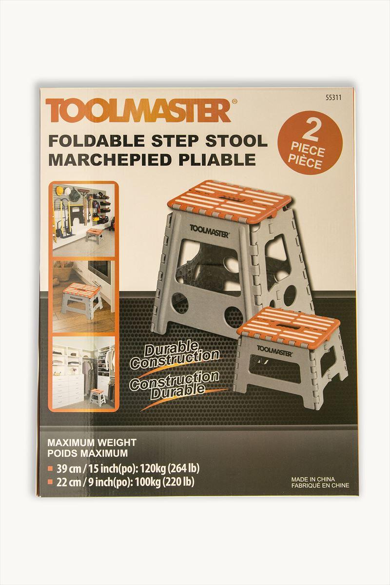 【送料無料】【オレンジ】折りたたみ 踏み台 TOOLMASTER 2個セット 高さ 39cm 22cm ステップツール 椅子 脚立