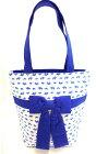 【narayaバッグ】ゾウ柄トートバッグナラヤリボン付きハンドバッグぞうブルーマザーズバッグトートバックレディースリボン送料無料