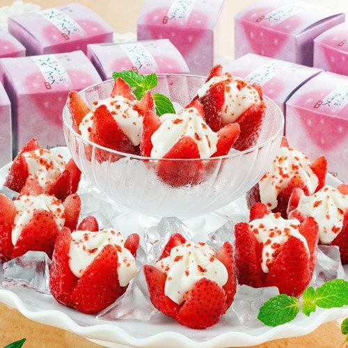お中元ギフト 花いちごのアイス 【送料無料】