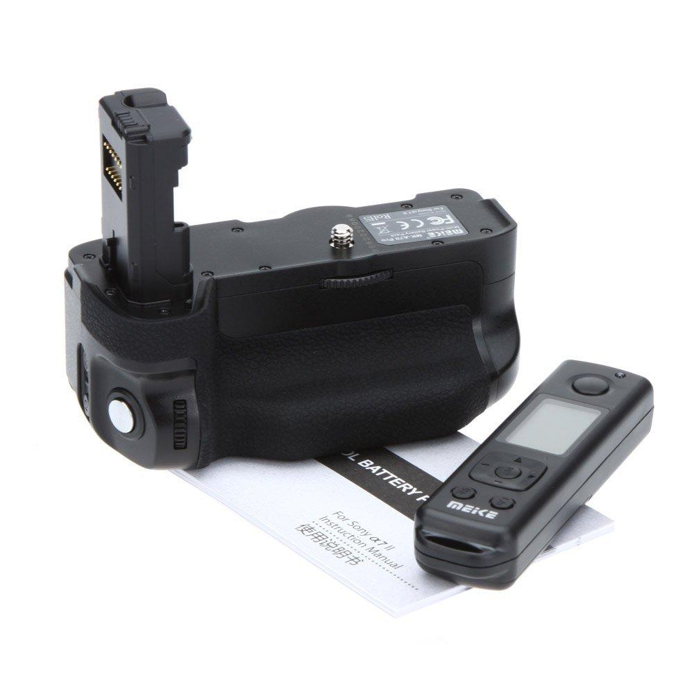 】Meike MK-A7 II Sony A7 II A7RII DSLR カメラに対応 垂直バッテリーグリップ バッテリーホルダー 2.4GHz ワイヤレスリモコン付き ゆうパック発送のみ 【実用新商品】【正規品 純正品 3ヶ月保証!!】