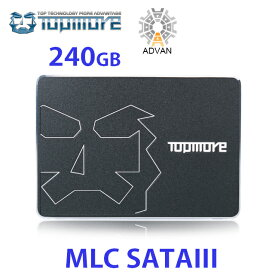 送料無料!新発売!TOPMORE トップモア2.5インチMLC SATAIII SSDドライブ(240GB) 伝送スピードが安定し、データは有効に保存される