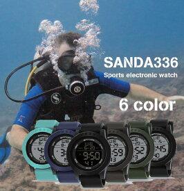 メンズ腕時計 レディース腕時計 兼用 デジタル スポーツウォッチ LEDバックライト 30M防水 アラーム機能ストップウォッチ機能付き 海 プール でもOK