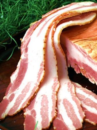 銘柄豚「白金豚」のプラチナベーコン(うす切)【岩手県_物産展】