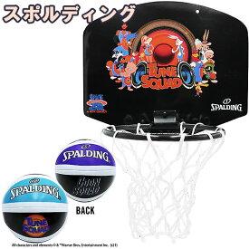 バスケットボール ゴール スペースジャム テューン スクワッド ブラック マイクロミニ バスケ バスケットゴール 79-008Z 家庭用 壁掛け室内用 スポルディング 21AW