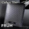 FRUH二つ折り財布リアルカーボンショートウォレット黒フリューGL027メンズ日本製