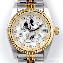 ミッキー時計85周年記念 天然ダイヤ10石ウォッチ ホワイト